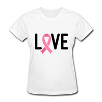 Cancer Awareness Shirt. Love Pink Ribbon Cancer Shirt
