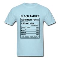 Black Father Facts Shirt - powder blue