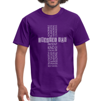 Blessed Dad Cross Shirt - purple