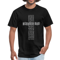 Blessed Dad Cross Shirt - black