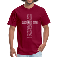 Blessed Dad Cross Shirt - burgundy