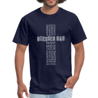 Blessed Dad Cross Shirt - navy