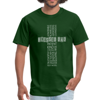 Blessed Dad Cross Shirt - forest green