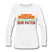 Welcome to Our Patch, Fall Shirt - white