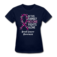 In This Family No One Fights Alone Cancer Awareness Shirt