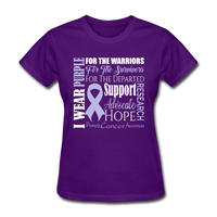 Cancer Awareness Shirt, Purple Ribbon Shirt
