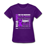 Pancreatic Cancer Awareness Shirt, Purple Ribbon Shirt, Cancer Warrior, Cancer Fighting Shirt