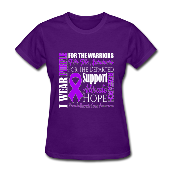Pancreatic Cancer Awareness Shirt, Purple Ribbon Shirt, Cancer Warrior, Cancer Fighting Shirt - purple
