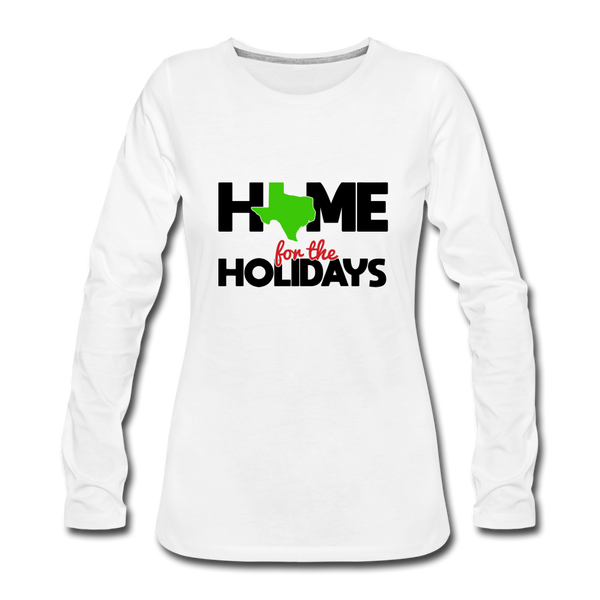 Home for The Holidays in Texas, Christmas Quarantine Shirt, Custom Shirt with your State Logo - white