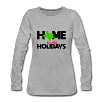 Home for The Holidays in Texas, Christmas Quarantine Shirt, Custom Shirt with your State Logo - heather gray