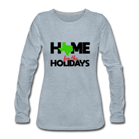 Home for The Holidays in Texas, Christmas Quarantine Shirt, Custom Shirt with your State Logo - heather ice blue