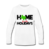 Home for The Holidays in Texas, Mens Christmas Quarantine Shirt, Custom Shirt with your State Logo - white