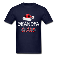 Grandpa Claus Unisex Christmas Pajamas Shirt - navy