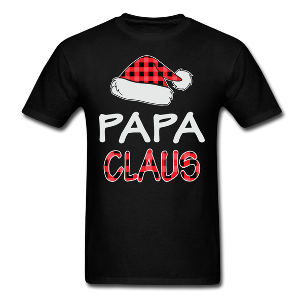 Papa Claus Unisex Christmas Pajamas Shirt - black