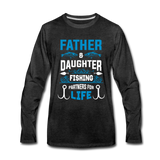 Father and Daughter Fishing Partners for Life - charcoal gray