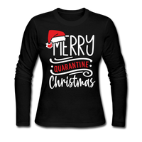 Merry Quarantine Christmas, Christmas Pajama Shirt - black