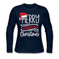 Merry Quarantine Christmas, Christmas Pajama Shirt - navy