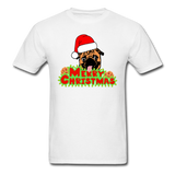 Merry Christmas Pug Shirt, for Pug Lover - white