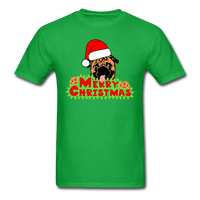 Merry Christmas Pug Shirt, for Pug Lover - bright green