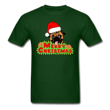 Merry Christmas Pug Shirt, for Pug Lover - forest green