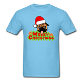 Merry Christmas Pug Shirt, for Pug Lover - aquatic blue