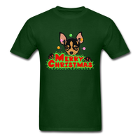 Merry Christmas Chihuahua Shirt, Gift for Dog Lover - forest green