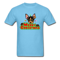 Merry Christmas Chihuahua Shirt, Gift for Dog Lover - aquatic blue