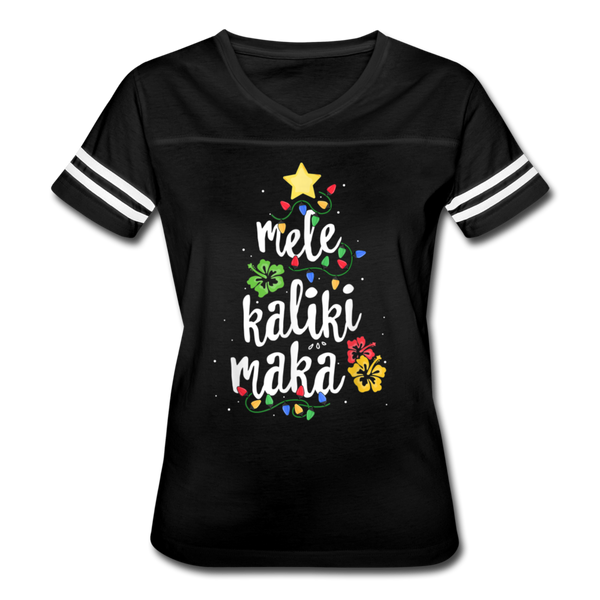 Mele Kalikimaka Hawaiian Merry Christmas Vintage Sport T-Shirt - black/white