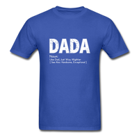 DaDa Definition Father Shirt - royal blue