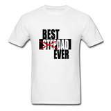 Best Step Dad Ever Shirt - white