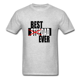 Best Step Dad Ever Shirt - heather gray