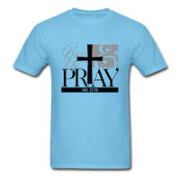 Rise Up & Pray, Luke 22:46 Unisex Shirt - aquatic blue