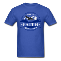 Faith Can Move Mountains, Matthew 17:20  Mens Shirt - royal blue