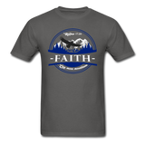 Faith Can Move Mountains, Matthew 17:20  Mens Shirt - charcoal