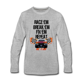 Race'em Break'em Fix'em Repeat, RC Car Shirt - heather gray