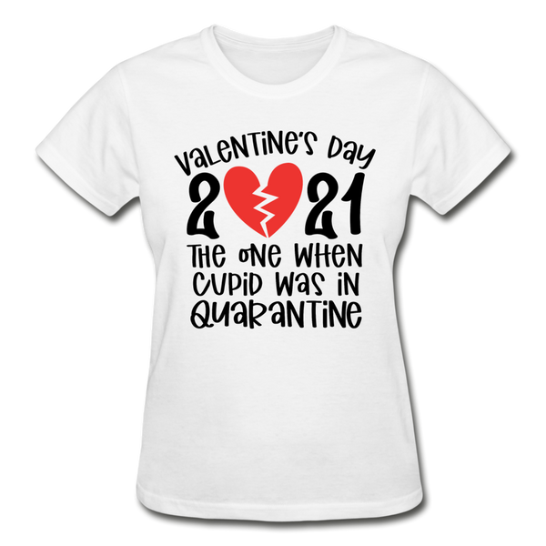 Valentines Day 2021, The One When Cupid was in Quarantine - white