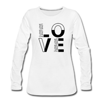 LOVE Grid Long Sleeve T-Shirt - white