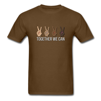 Together We Can Unisex Classic T-Shirt, All Lives Matter - brown