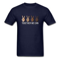 Together We Can Unisex Classic T-Shirt, All Lives Matter - navy
