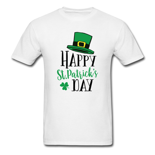 Happy St Patrick's Day Unisex Classic T-Shirt - white