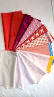 Destash Fabric Bundle, 12 Fat Quarters - Valentines