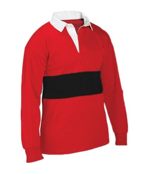Rugby Shirt Red/Black - CLEARANCE