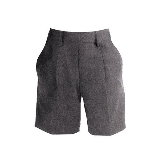 Boys-Fit Junior School Shorts - Grey