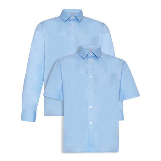 Tie Collar Blouses - Blue (Twin Pack)