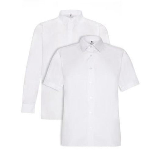 Boys Shirts - White (Twin Pack)