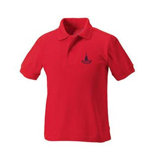 Downs Junior Polo- Red