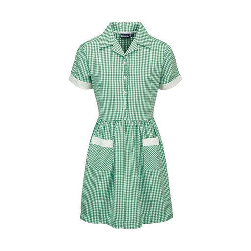 Gingham Dress - Green/White