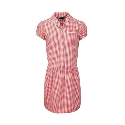 Gingham Dress - Red/White