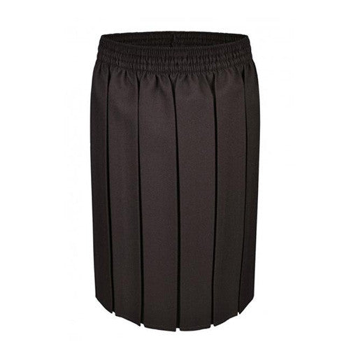 Junior Girls Pleated Skirt - Brown