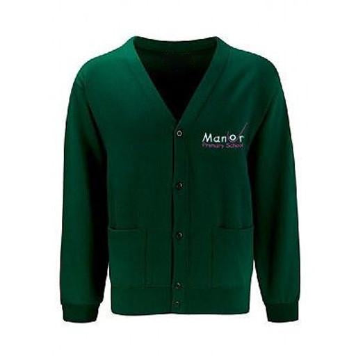 Manor Uckfield Green Cardigan